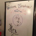 Cartoon - Character sketch on white board