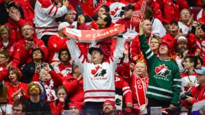 Team Canada - group of people chearing