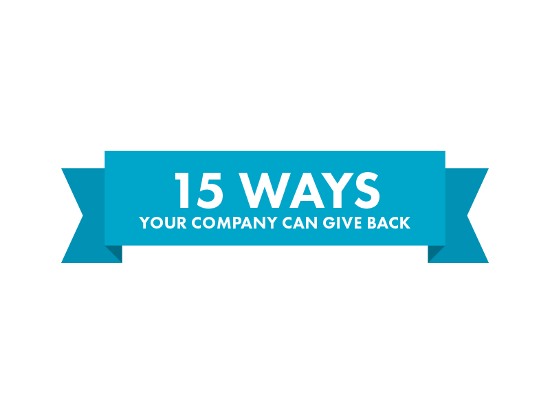 15 Ways Your Company Can Give Back Infographic Versature Giving Tuesday #TechGivesBack Pledge 1%